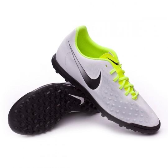 Zapatilla de fútbol sala  Nike MagistaX Ola II Turf White-Volt-Wolf grey