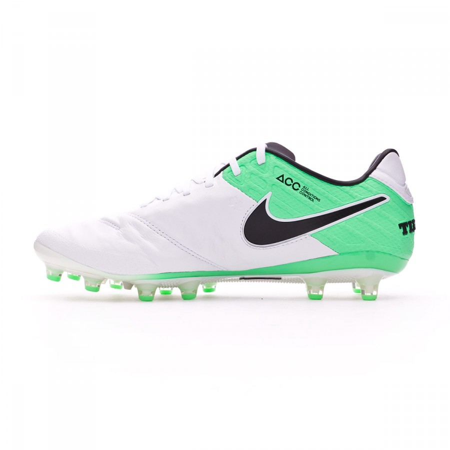 on sale 06cd3 87ecf Football Boots Nike Tiempo Legend VI ACC AG-Pro White-Electro green -  Football store Fútbol Emotion