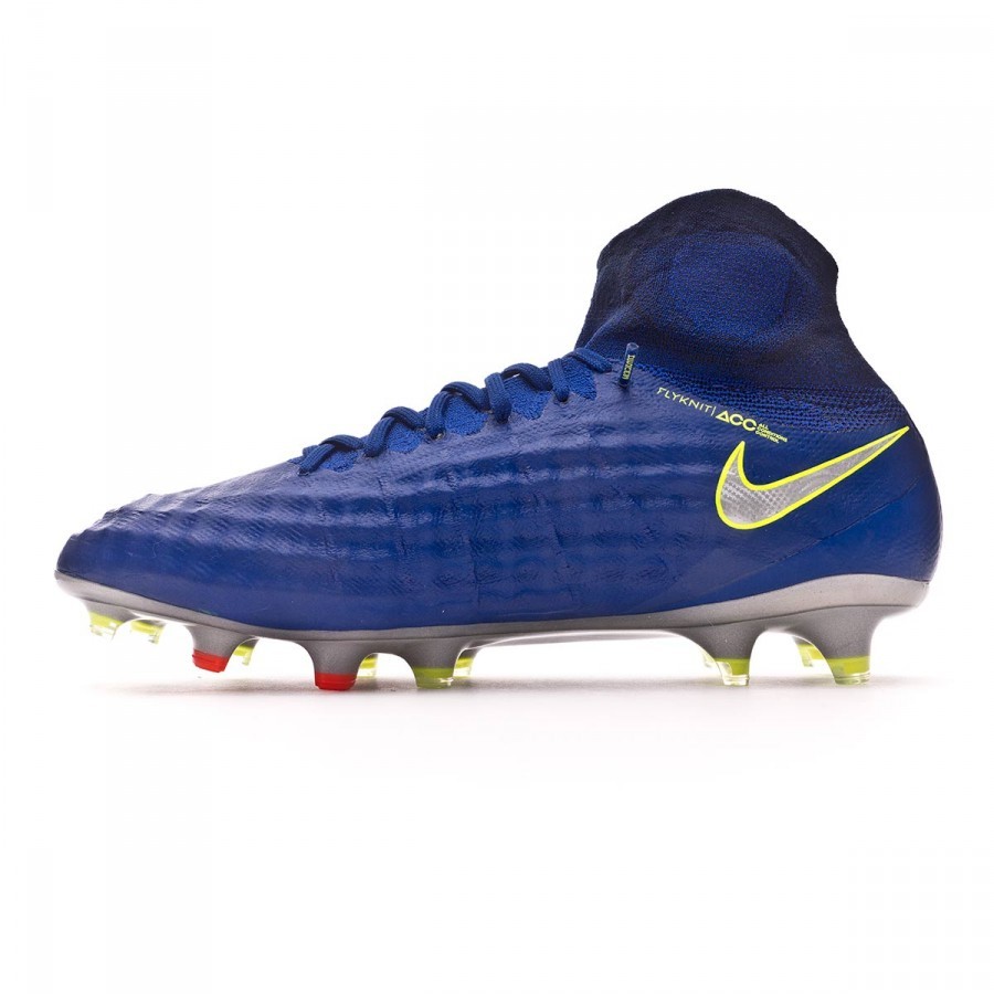 025d949e2b67 Football Boots Nike Magista Obra II ACC FG Deep royal blue-Chrome-Total  crimson - Football store Fútbol Emotion