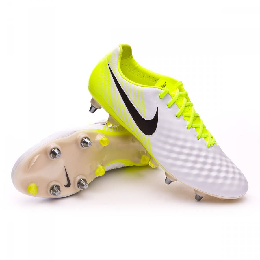 1388ea1a6aa6 Nike Magista Opus II ACC SG-Pro Football Boots. White-Volt-Wolf grey ...