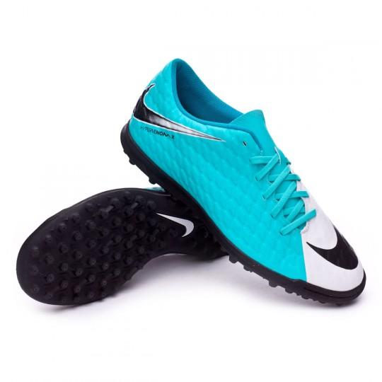 Zapatilla de fútbol sala  Nike HypervenomX Phade III Turf White-Photo blue-Chlorine blue