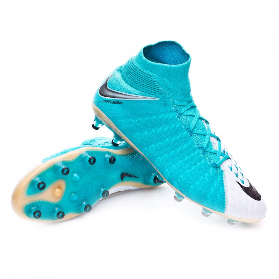 8fc0c894dc6 Nike Hypervenom Phantom III ACC DF AG-Pro Football Boots. White-Photo blue-Chlorine  ...