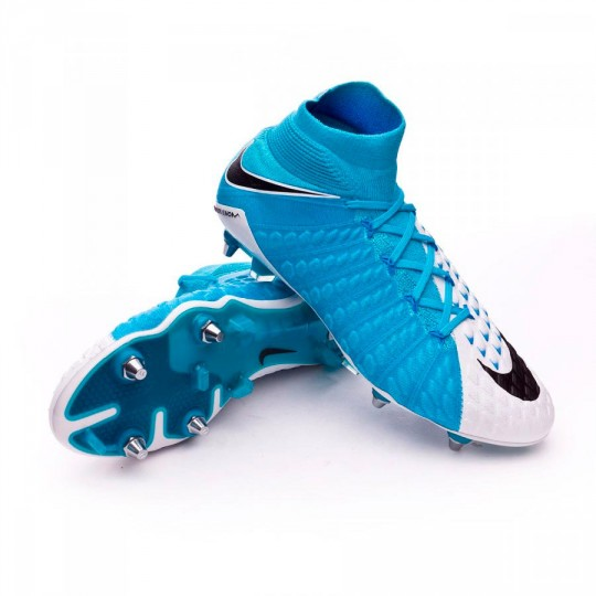 Scarpa  Nike Hypervenom Phantom III ACC DF SG-Pro White-Photo blue-Chlorine blue