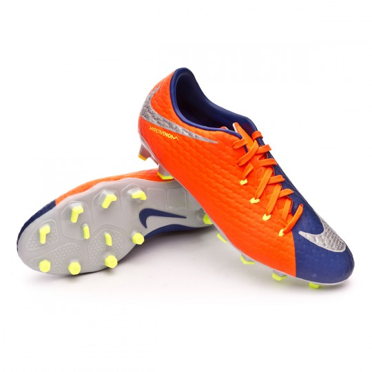 Chuteira  Nike Hypervenom Phelon III FG Deep royal blue-Chrome-Total crimson