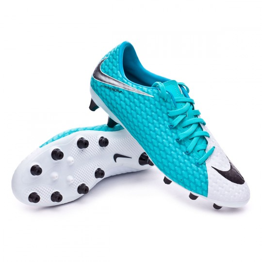 Chuteira  Nike Hypervenom Phelon III AG-Pro White-Photo blue-Chlorine blue