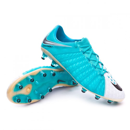 Bota  Nike Hypervenom Phantom III ACC AG-Pro White-Photo blue-Chlorine blue