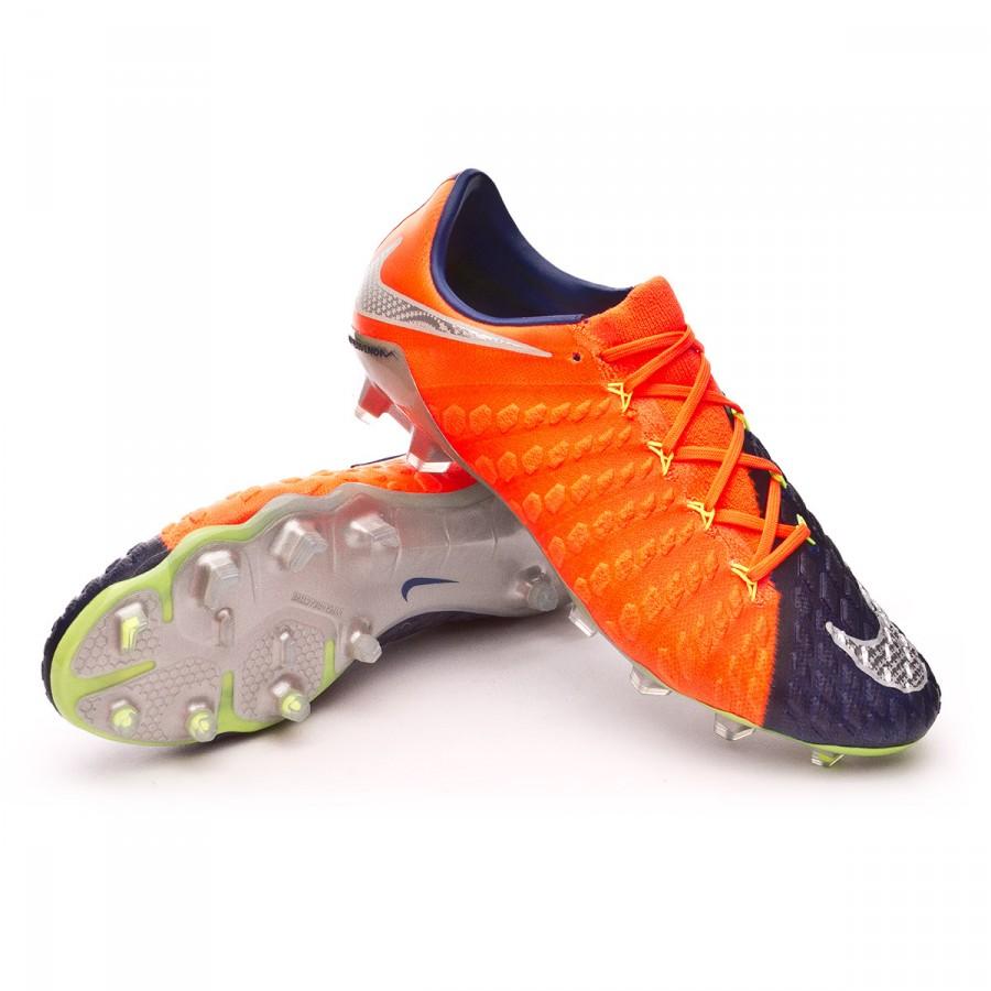 af5542a70 Nike Hypervenom Phantom III ACC FG Football Boots. Deep royal blue-Chrome-Total  crimson ...