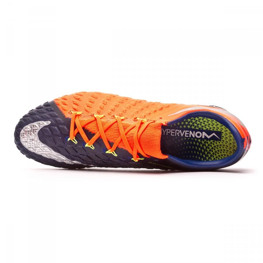 78ec02b1a Football Boots Nike Hypervenom Phantom III ACC FG Deep royal blue-Chrome-Total  crimson - Football store Fútbol Emotion