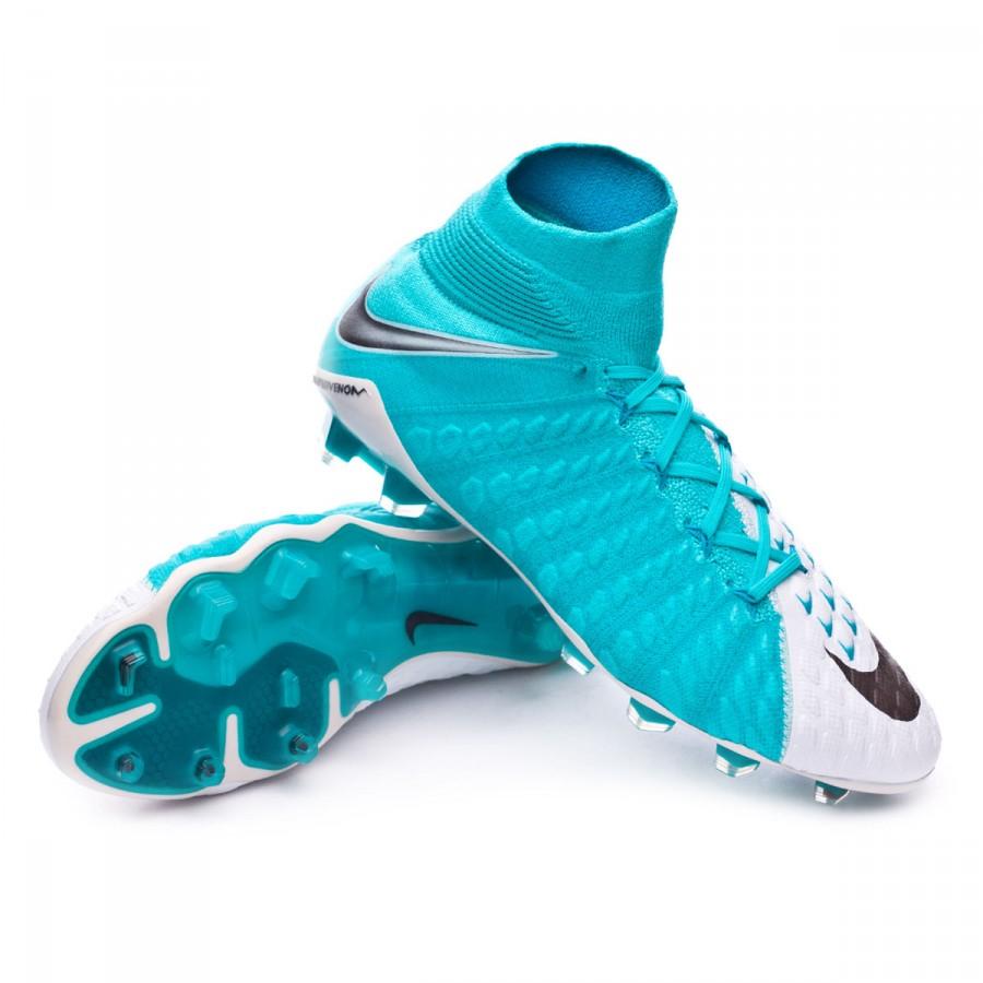 e1adbfb8813 Football Boots Nike Hypervenom Phantom III ACC DF FG White-Photo ...
