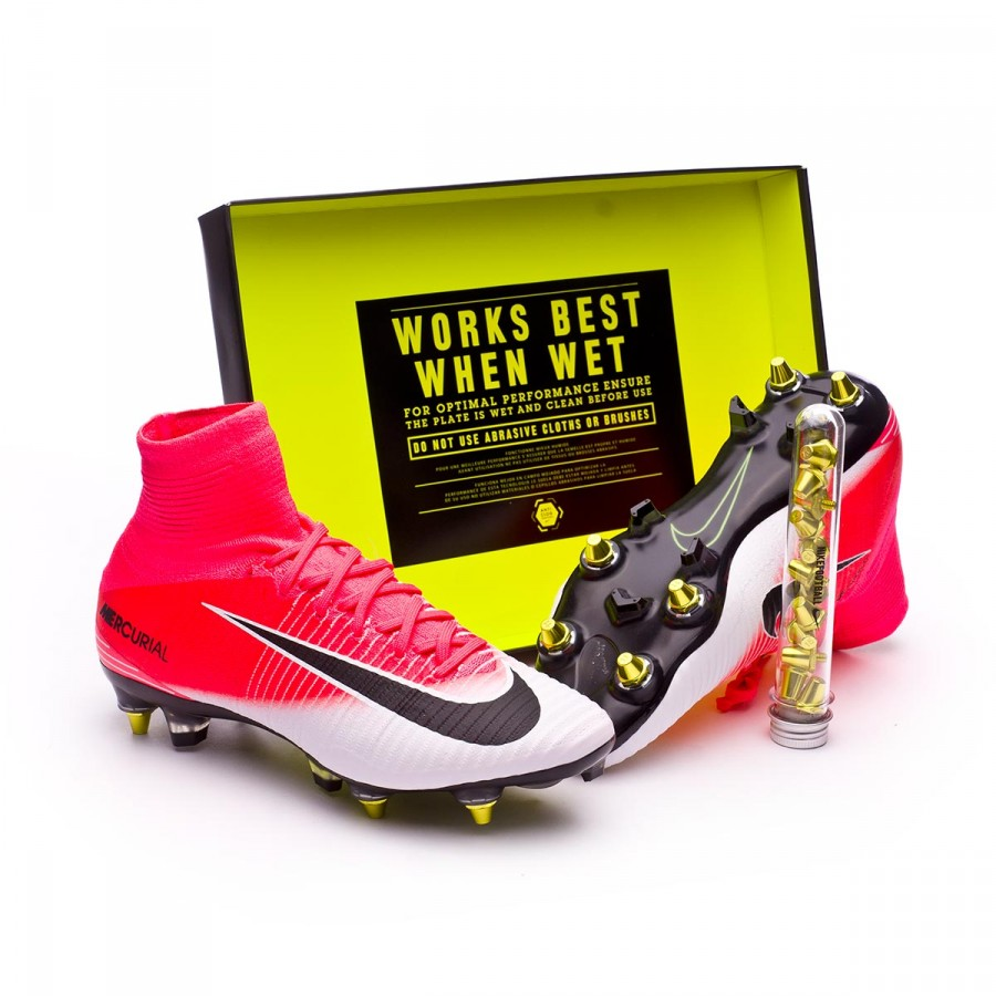 b86c54907 Nike Mercurial Superfly V ACC SG-Pro Anti-Clog Football Boots. Racer pink- White ...
