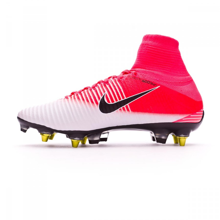 7e7397043 Football Boots Nike Mercurial Superfly V ACC SG-Pro Anti-Clog Racer pink- White - Football store Fútbol Emotion