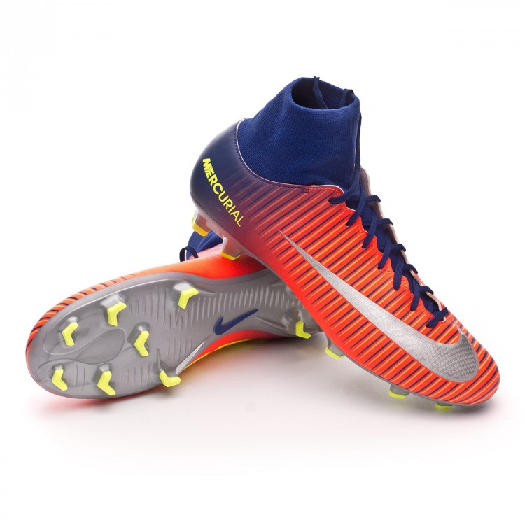 Nike; Bota Mercurial Victory VI DF FG Deep royal blue-Chrome-Total crimson  - NI903609