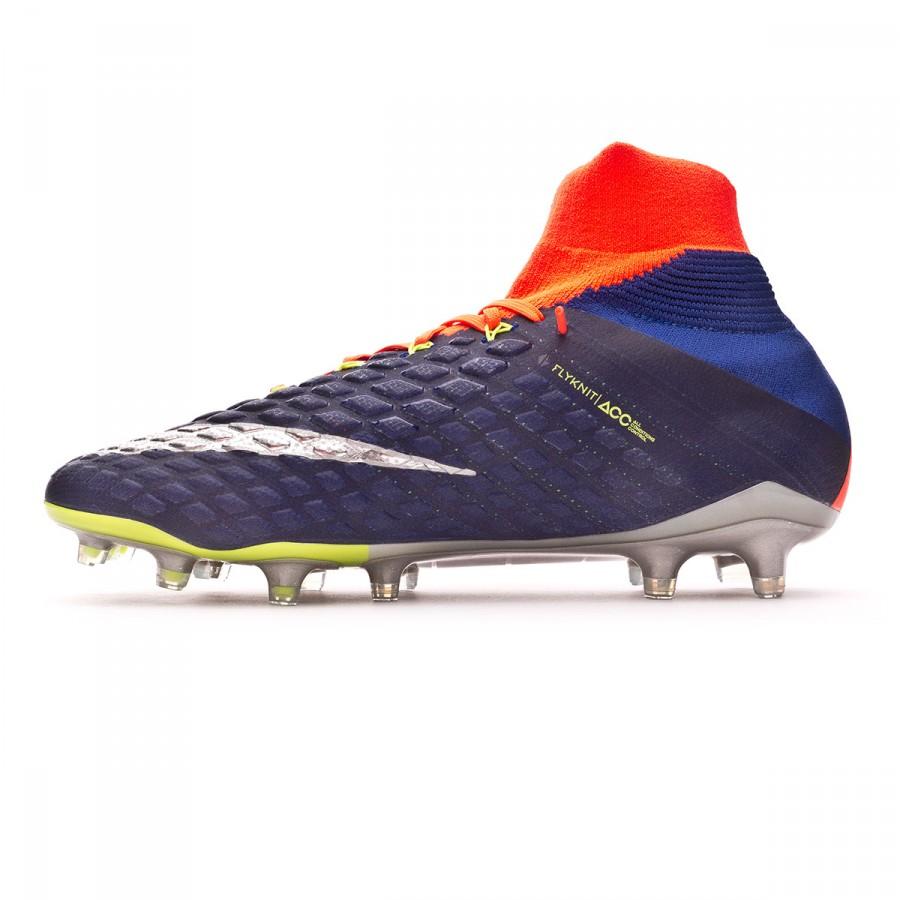 b26f94688 Football Boots Nike Hypervenom Phantom III ACC DF FG Deep royal blue-Chrome-Total  crimson - Football store Fútbol Emotion