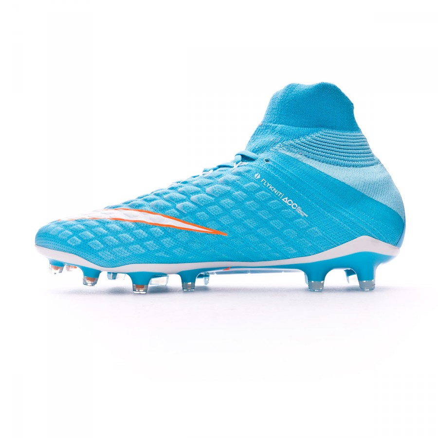 super popular 02303 4ae85 Bota Hypervenom Phantom III ACC DF FG Mujer Polarized blue-Chlorine  blue-Tart