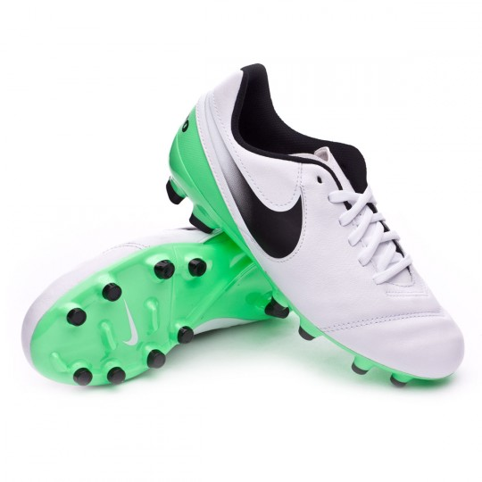 Bota  Nike jr Tiempo Legend VI FG White-Electro green