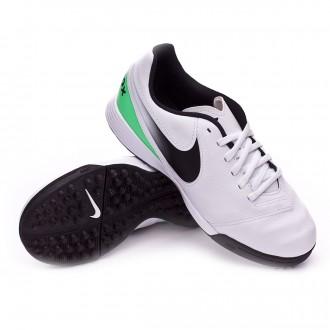 Zapatilla  Nike TiempoX Legend VI Turf Niño White-Electro green
