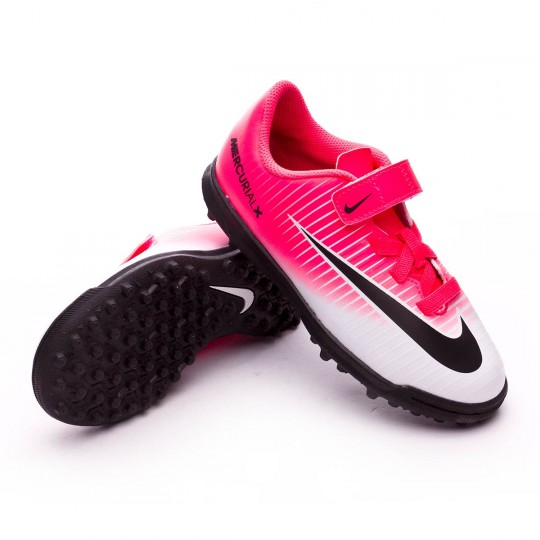 Zapatilla de fútbol sala  Nike jr MercurialX Vortex III VelcroTurf Racer pink-White