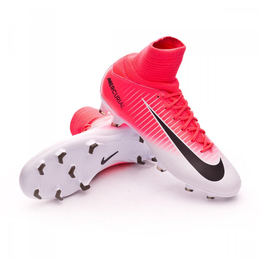 f0f108eaa672 Football Boots Nike Jr Mercurial Superfly V FG Racer pink-White ...