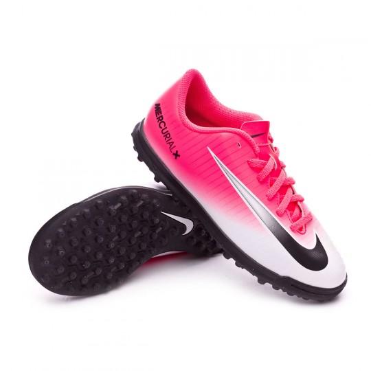 Zapatilla de fútbol sala  Nike jr MercurialX Vortex III Turf Racer pink-White