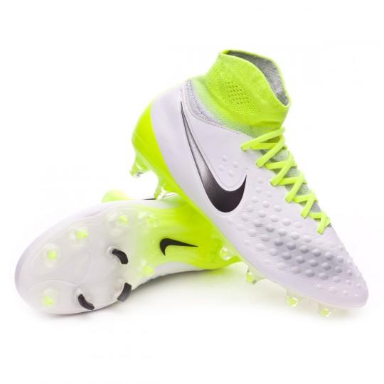 Chaussure  Nike jr Magista Obra II FG White-Volt-Pure platinum