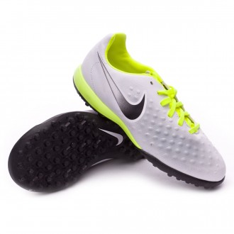 Sapatilha  Nike Jr MagistaX Opus II Turf White-Volt-Pure platinum