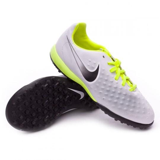 Zapatilla de fútbol sala  Nike jr MagistaX Opus II Turf White-Volt-Pure platinum