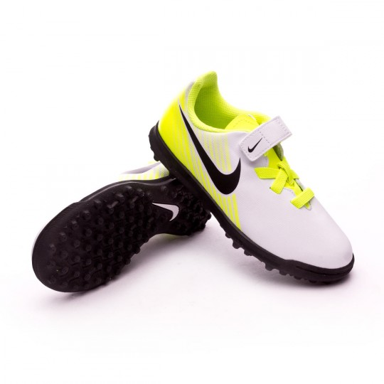 Zapatilla de fútbol sala  Nike jr MagistaX Ola II VelcroTurf White-Volt-Pure platinum