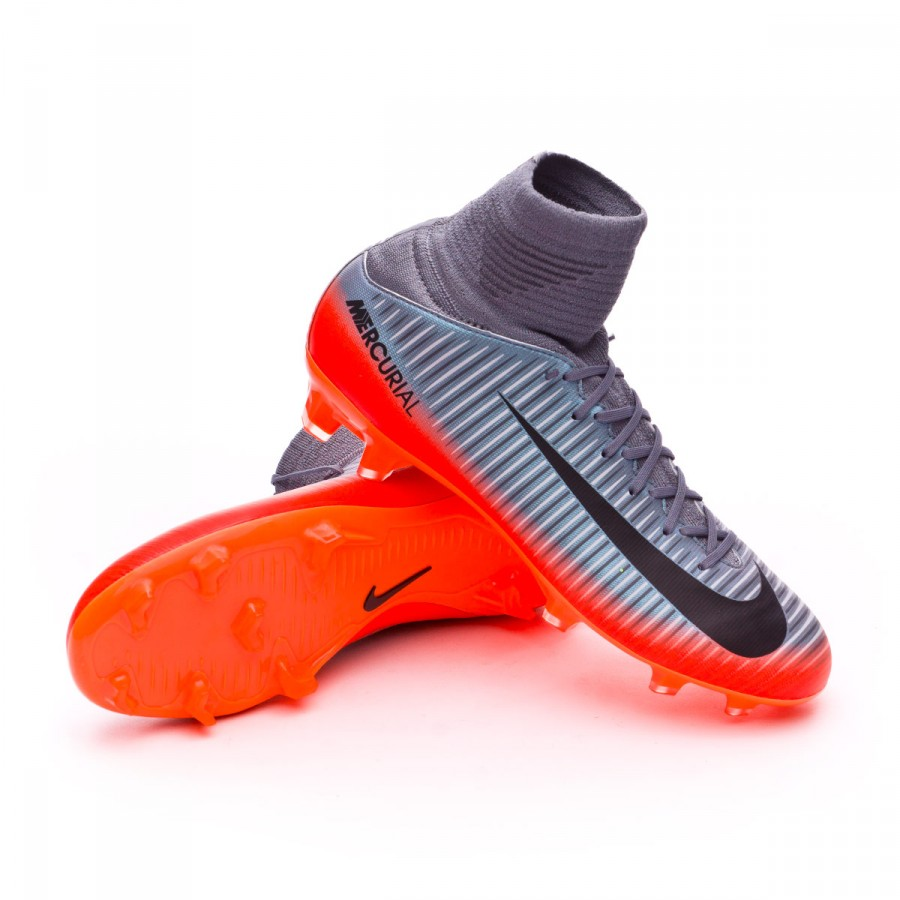 promo code 19055 003f3 Football Boots Nike Kids Mercurial Superfly V CR7 FG Cool grey ...