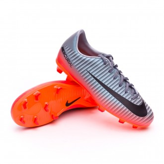 Kids Mercurial Vapor XI CR7 FG Cool grey-Metallic hematite-Wolf grey