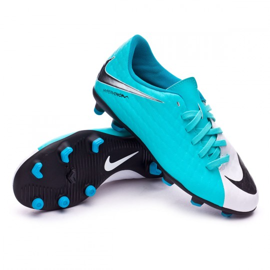 512c8d9380809 Chuteira Nike Jr Hypervenom Phade III FG White-Photo blue-Chlorine blue -  Loja de futebol Fútbol Emotion