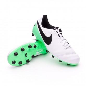 Bota  Nike Tiempo Legend VI AG-Pro Niño White-Electro green