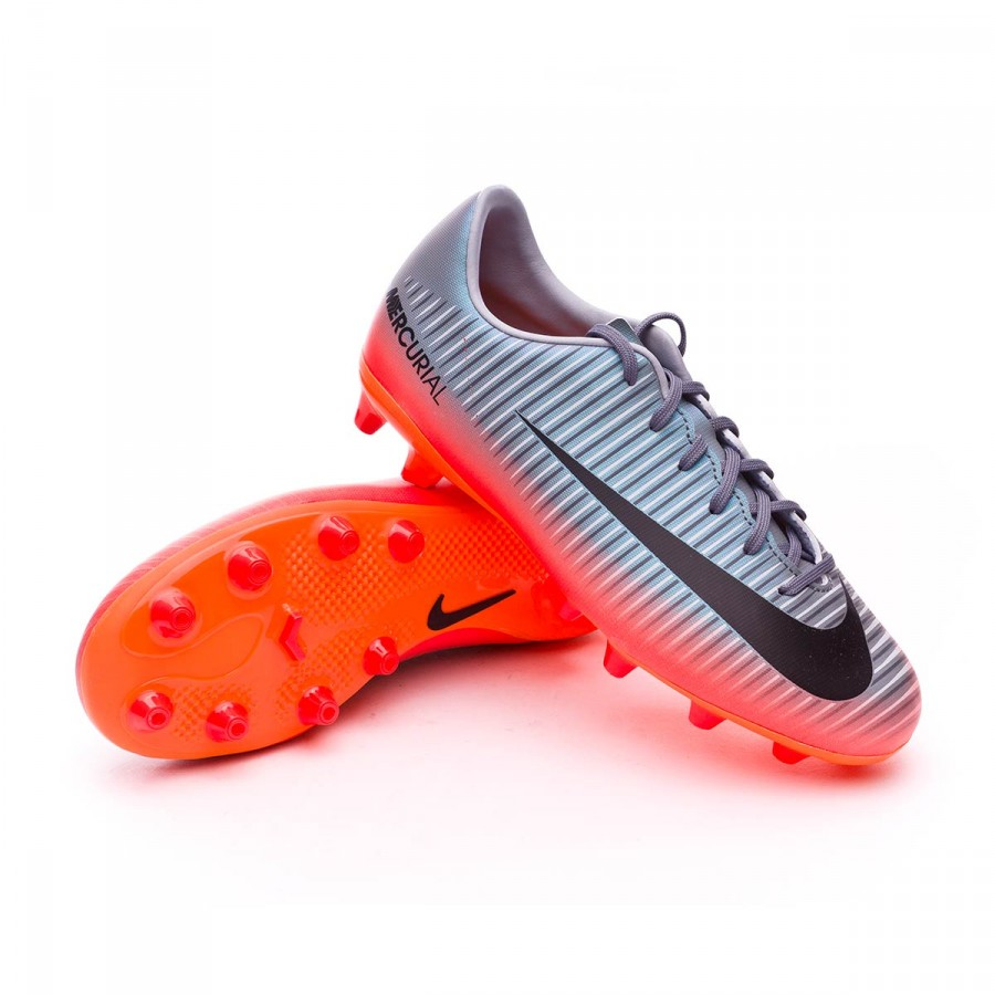 ce56800ddef63 Football Boots Nike Kids Mercurial Vapor XI CR7 AG-Pro Cool grey ...