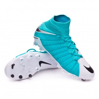 Jr Hypervenom Phantom III DF FG White-Photo blue-Chlorine blue