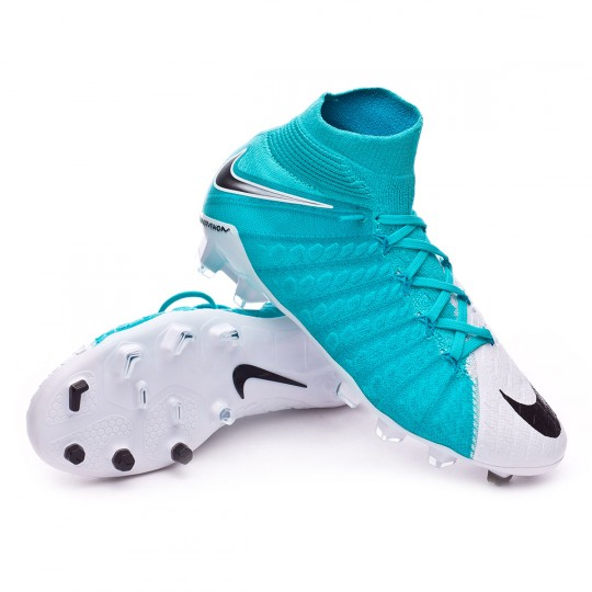 Bota  Nike jr Hypervenom Phantom III DF FG White-Photo blue-Chlorine blue