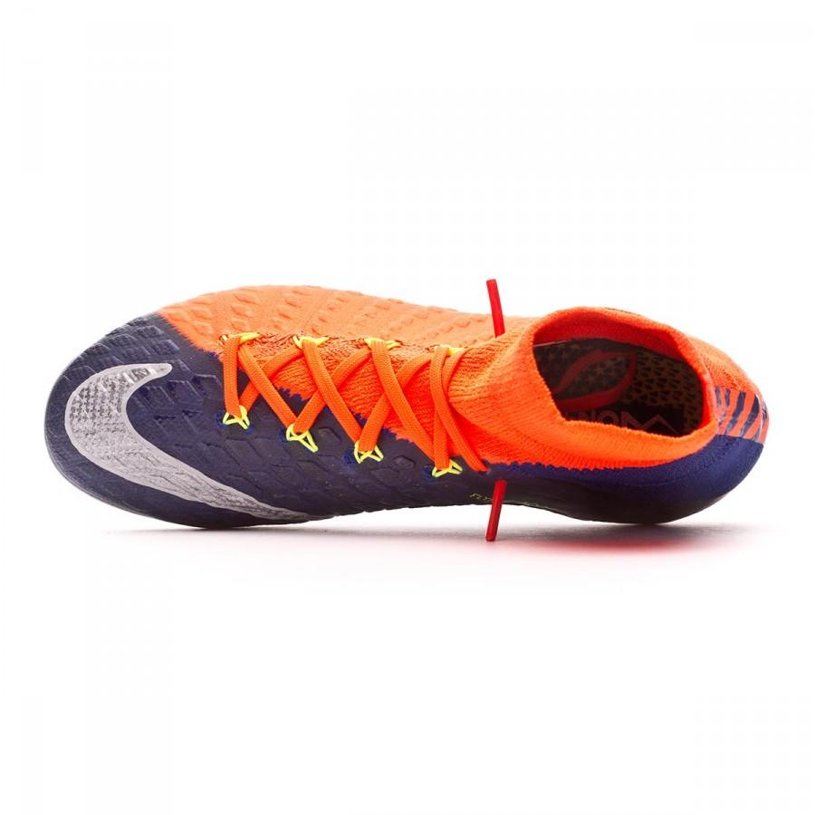 026ccb58fc8 Football Boots Nike Jr Hypervenom Phantom III DF FG Deep royal blue-Chrome-Total  crimson - Football store Fútbol Emotion