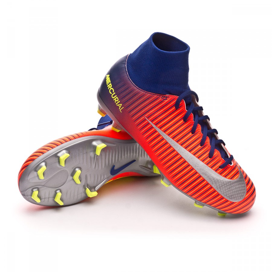 eccca26de Chaussure de foot Nike Jr Mercurial Victory VI DF FG Deep royal  blue-Chrome-Total crimson - Boutique de football Fútbol Emotion