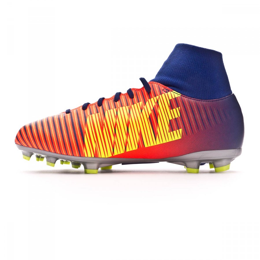 b9e96e3b4 Football Boots Nike Jr Mercurial Victory VI DF FG Deep royal  blue-Chrome-Total crimson - Football store Fútbol Emotion