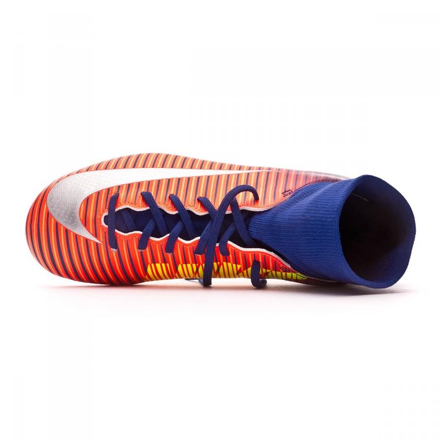 6178efc6636d Football Boots Nike Jr Mercurial Victory VI DF FG Deep royal blue-Chrome-Total  crimson - Football store Fútbol Emotion