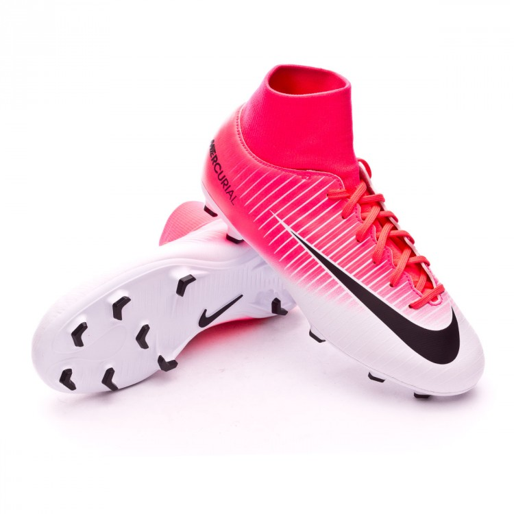 7199e61ce Football Boots Nike Jr Mercurial Victory VI DF FG Racer pink-White ...