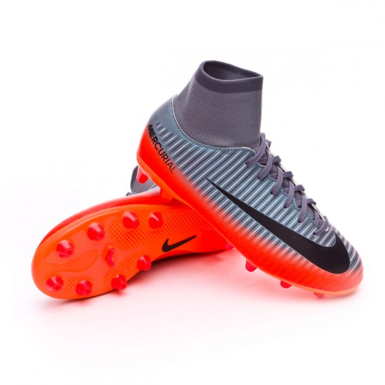 Bota  Nike jr Mercurial Victory VI DF CR7 AG-Pro Cool grey-Metallic hematite-Wolf grey