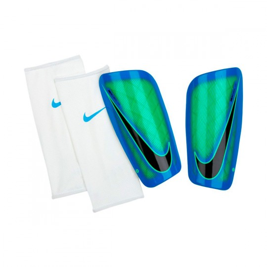 Espinillera  Nike Mercurial Lite Electro green-Photo blue-Black