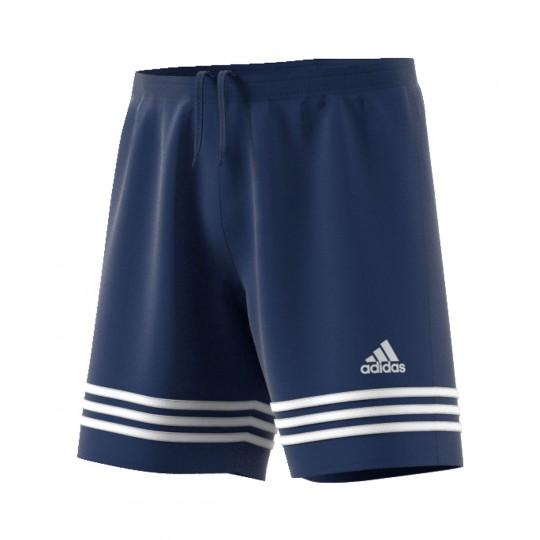 Short  adidas Entrada 14 Bleu marine-Blanc