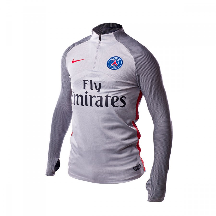 Jersey Nike Paris Saint-Germain Strike Top 2016-2017 Wolf grey ... e1c1bc50df167