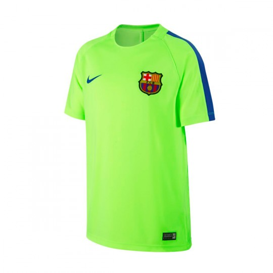Camiseta  Nike jr FC Barcelona Training 2016-2017 Ghost green-Game royal