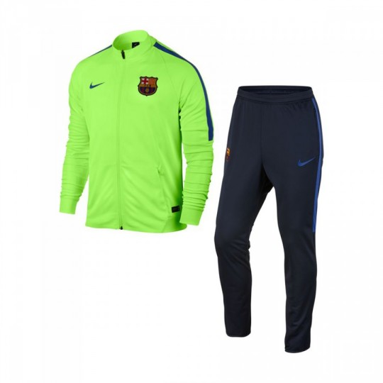 Chándal  Nike jr FC Barcelona 2016-2017 Ghost green-Game royal
