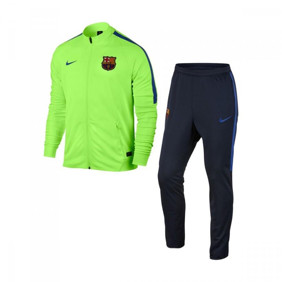 Tracksuit Nike Jr FC Barcelona 2016-2017 Ghost green-Game royal ... bd960f1bdbf