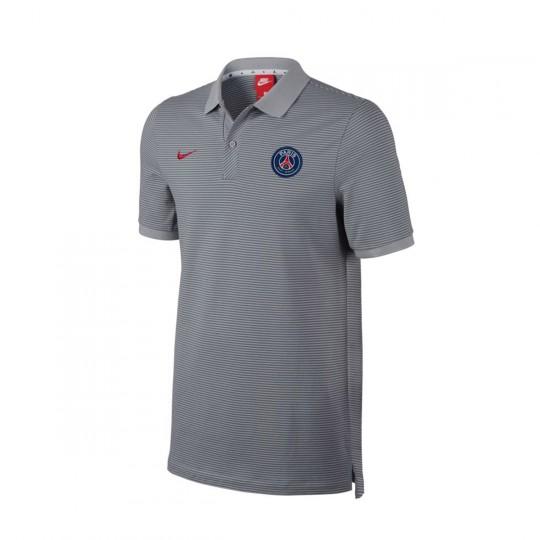 Polo  Nike Paris Saint-Germain 2016-2017 Wolf grey-University red