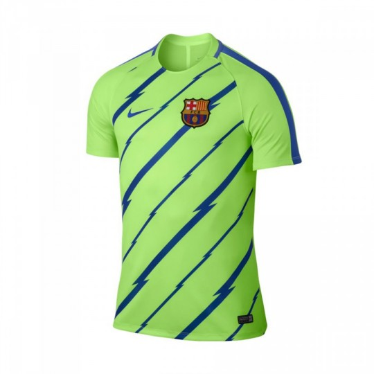 Camiseta  Nike jr FC Barcelona Dry Top 2016-2017 Ghost green-Game royal