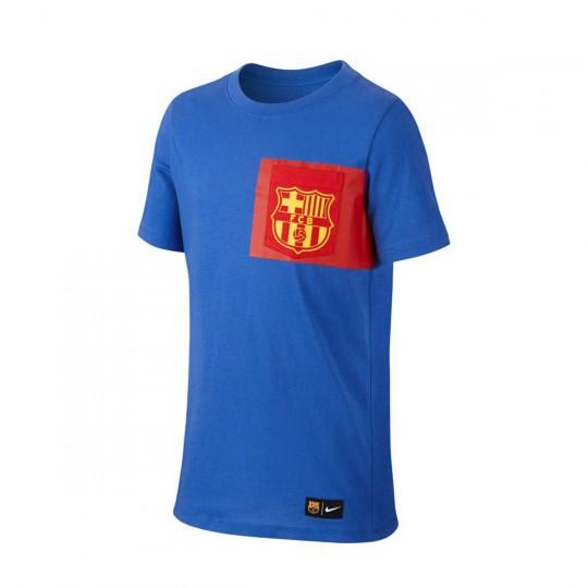 Camiseta  Nike jr FC Barcelona 2016-2017 Game royal-Gym red