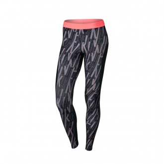 Malla  Nike Pro Hypercool Tight Mujer Black-Lava glow
